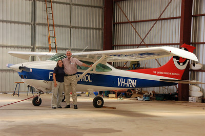 Me and John in front of the plane.