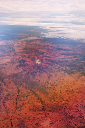 Flying over the outback to Broken Hill.