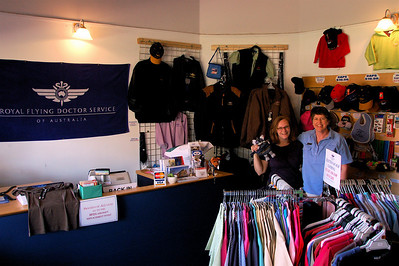 Me and Becky in the RFDS shop.