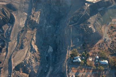 Flying over the Broken Hill mine.