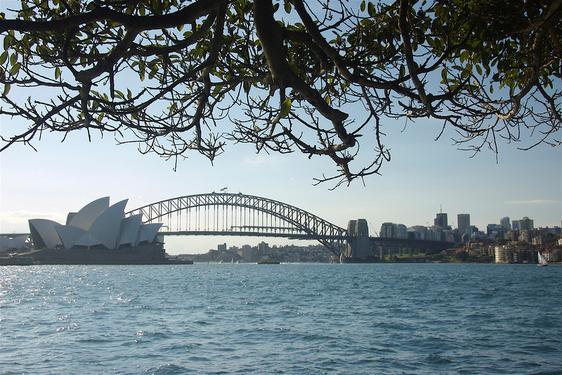 The Opera House and Harbour Bridge at Sydney Harbour