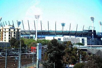 The Melbourne Cricket Grounds! Oh, how I wanted to see an Aussie Rules game there. Guess that just means I have to come back.
