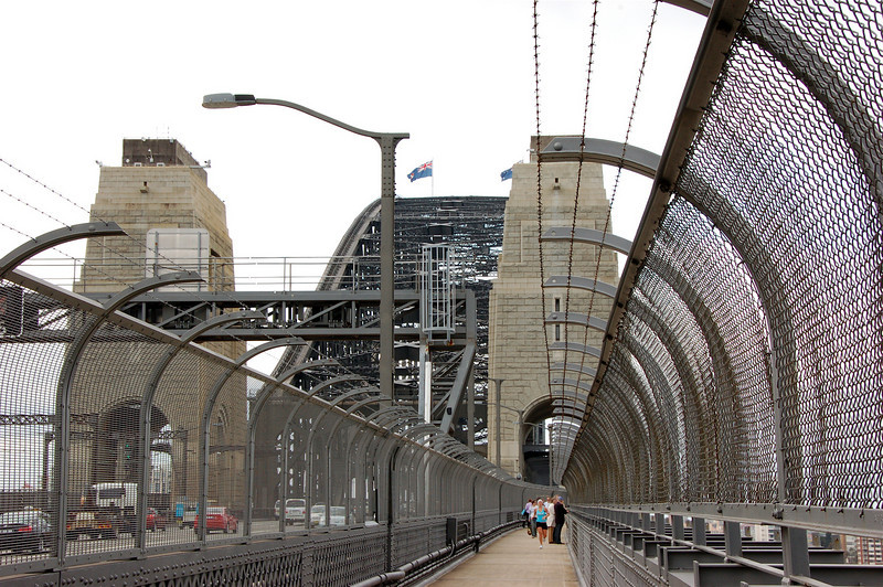 The Harbour Bridge museum is located in the pylon on the right. The pylons are purely decorative rather than weight-bearing or otherwise structurally necessary.