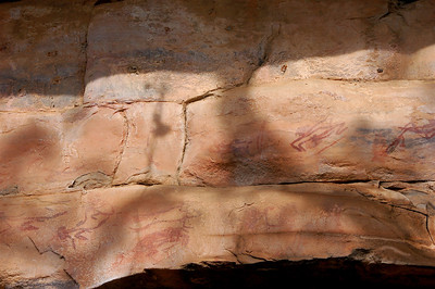 The rock paintings were used to teach numerous things from how one should behave to what one can eat to the people's creation stories.