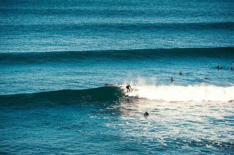 Surfing Bells Beach