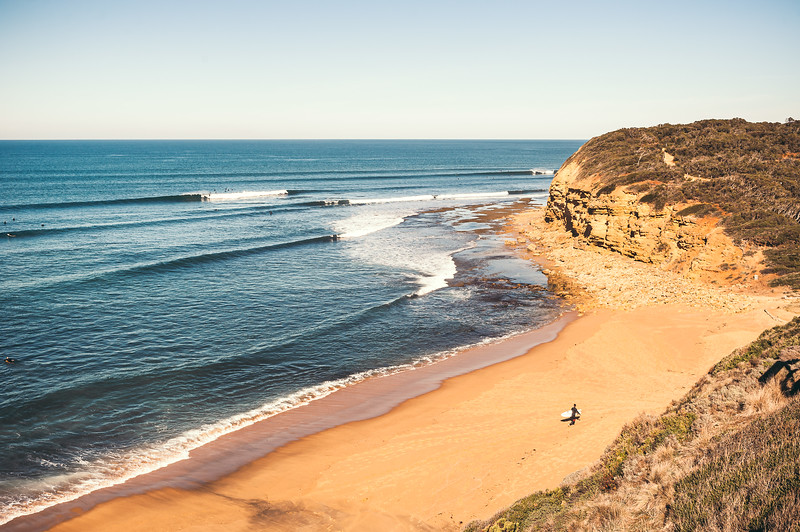 The Line up at Bells Beach