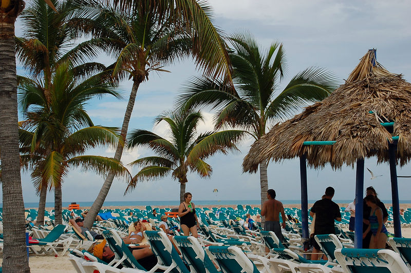 View from my beach lounger on Coco Cay