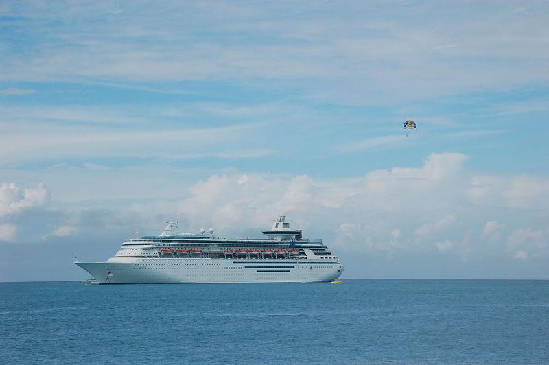 Parasailer and our ship.