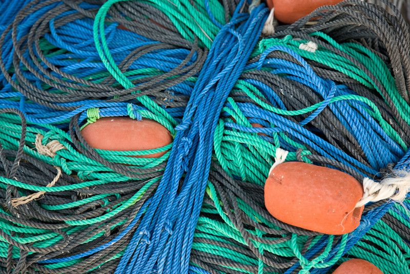 Ropes and floats.