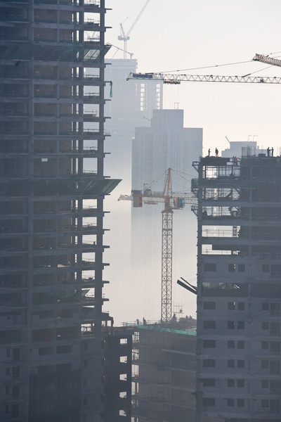 Construction, Dubai, early morning