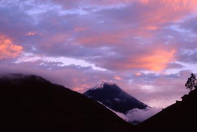 Tungurahua volcano spewing ash