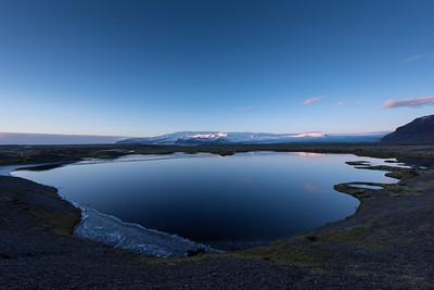 Little lake near Jökulsárlón
