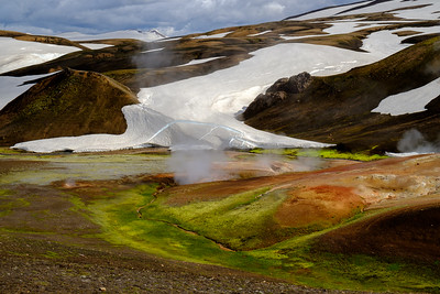 We were often reminded of Iceland's volcanic nature, seeing signs of fire and ice