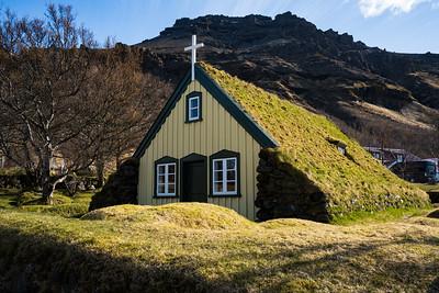 Originally built in 1884, Hofskirkja is the last turf church constructed in Iceland