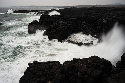 The rugged coast is exposed to North Atlantic weather