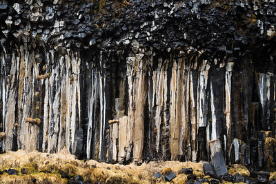 Basalt columns are also a common geologic feature