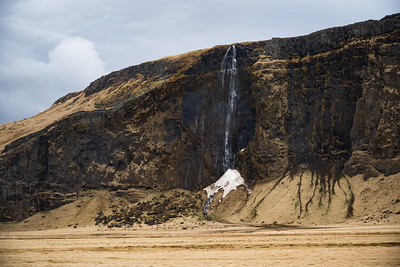 This waterfall is cold enough to deposit an ice cone at its base