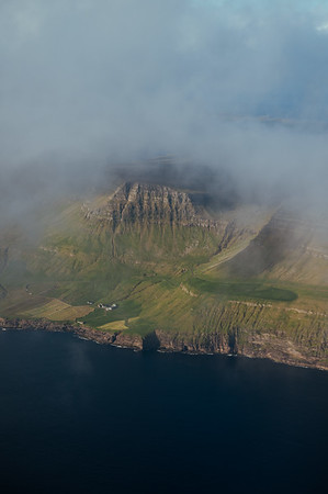 Approaching the Faroe Islands.