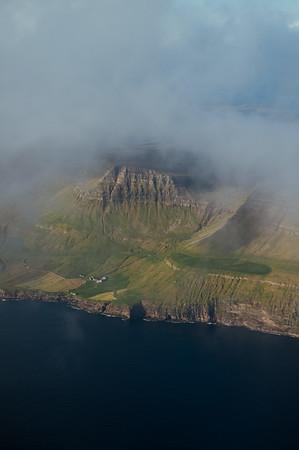 Approaching the Faroe Islands.