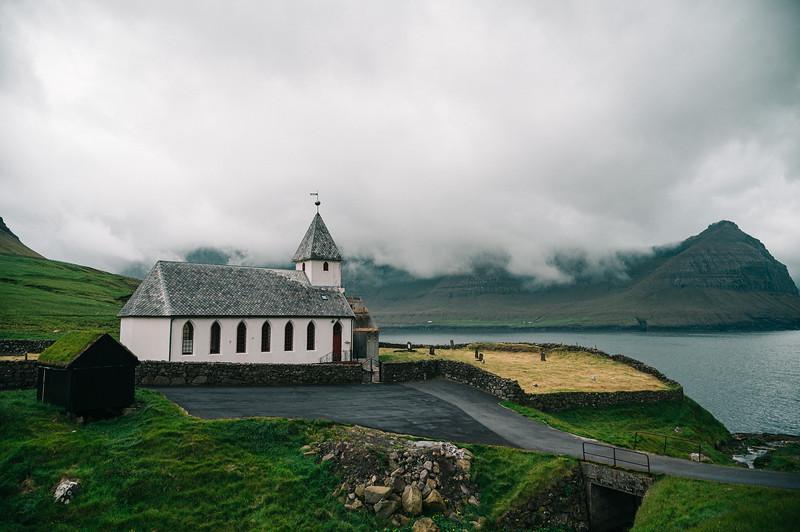 A small church in Viðareiði.
