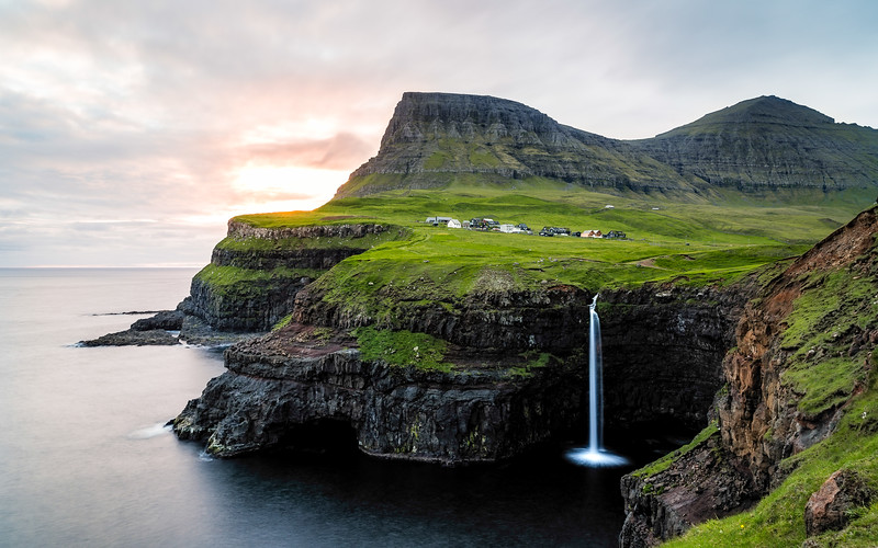The image that you have in mind when thinking about the Faroes. Gásadalur.