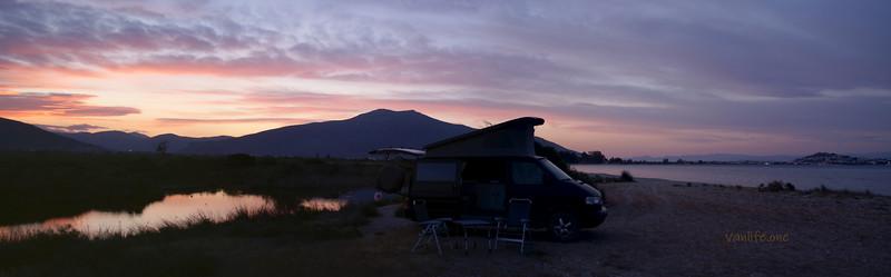 Moustos wetland sunset