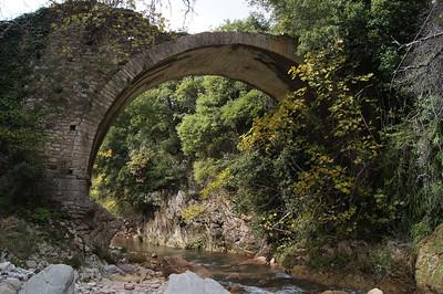 Ancient Neda river bridge