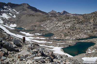 Hiking Down Glen Pass