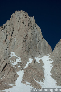 Mount Whitney Climbers in the Mountaineer's Route