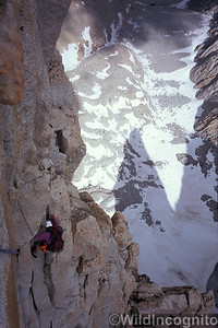 Climbing on the East Face of Mount Whitney