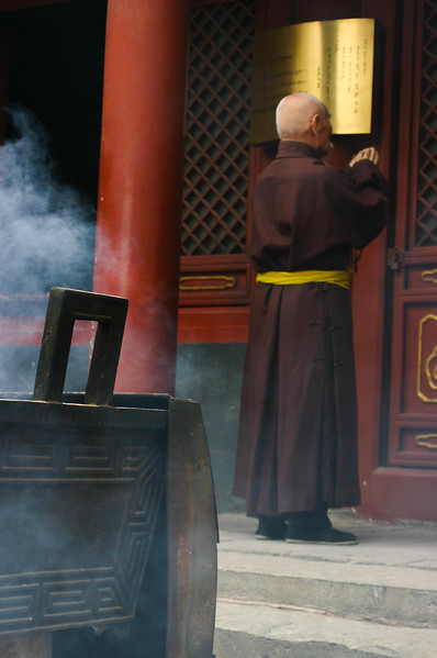 Buddhist Monk at Confucius Temple
