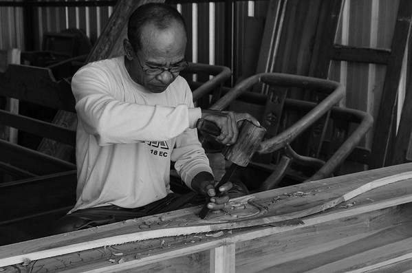 Craftsman during his work
