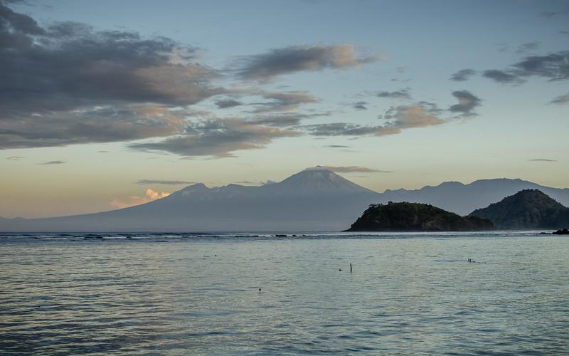 Early morning views towards Lombok.