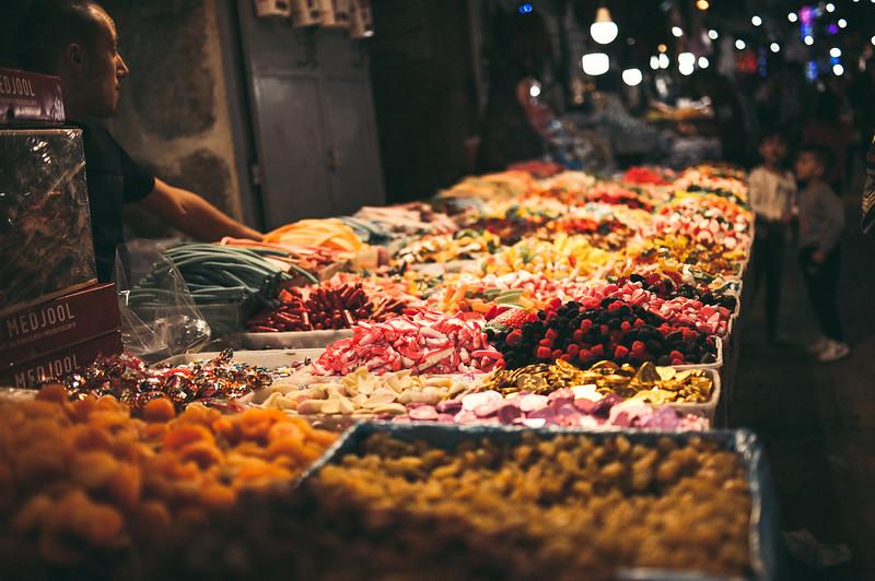 Vibrant markets in the old city of Jerusalem