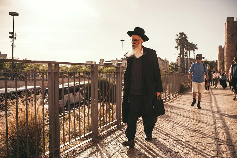 Street life in Jerusalem.