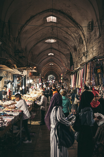 Where the life is. Old city market in Jerusalem.