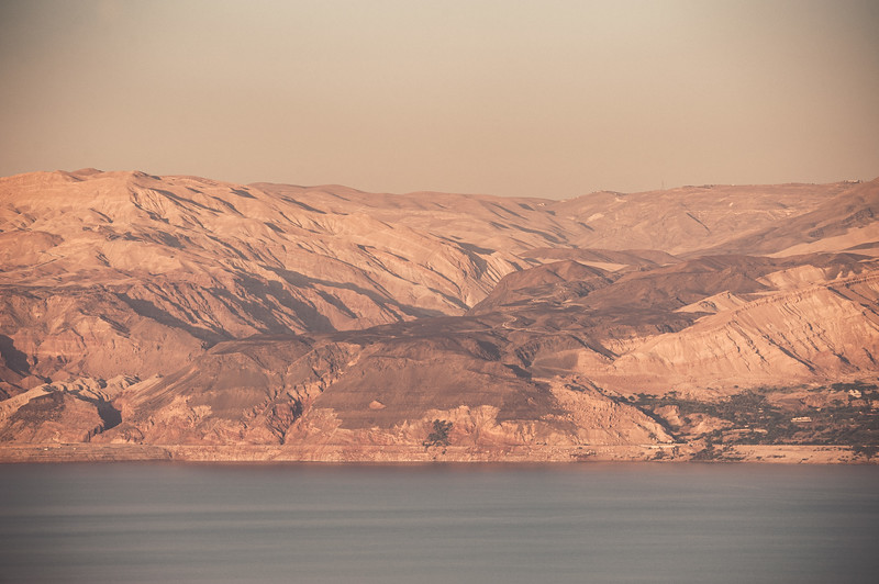 Jordan on the other side of the dead sea.