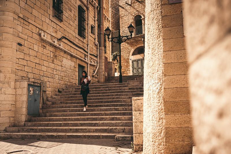 Living a normal life behind walls. Bethlehem in palestina