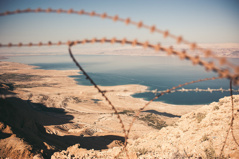 Freedom is vulnerable. Old boarders above the Dead sea