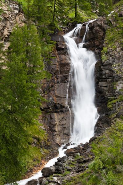 Waterfall at Tignet, Valsavarenche, Italian Alps.