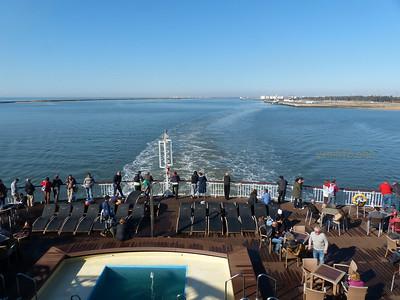 Leaving Huelva port for Lanzarote