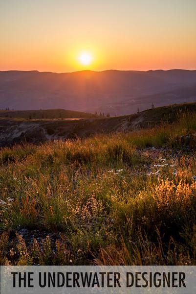 Sunset at Mount Saint Helens