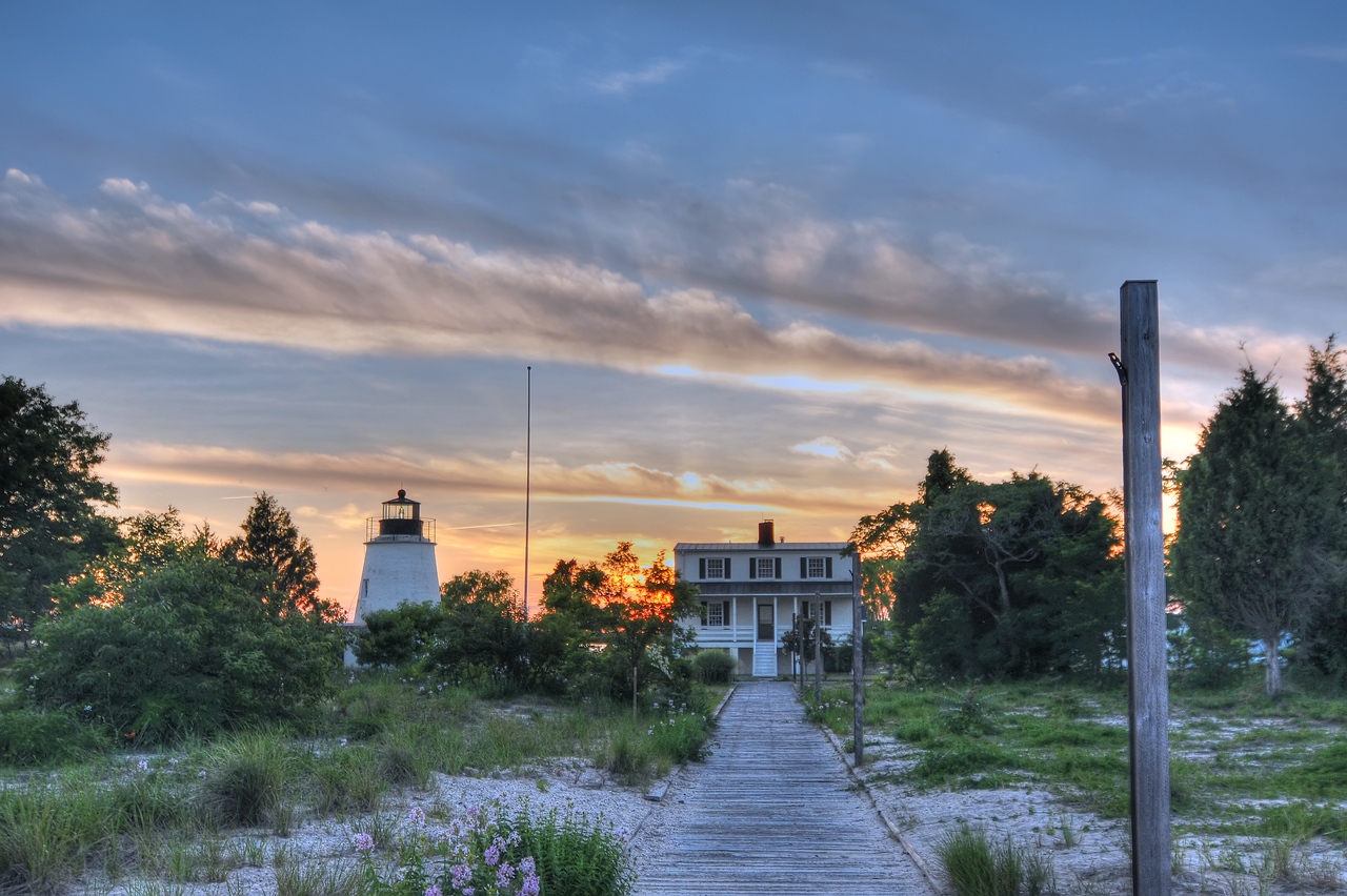 June 8th,  Took my folks to St Georges Island, and Piney Point Lighthouse this evening.  Got a couple shots.  This is a hand held 3 exposure for HDR.  I really think this would have looked a lot better if I would have carried the TRIPOD with me.  I will go back with the tripod soon.  Just goes to show how important a tripod really is!