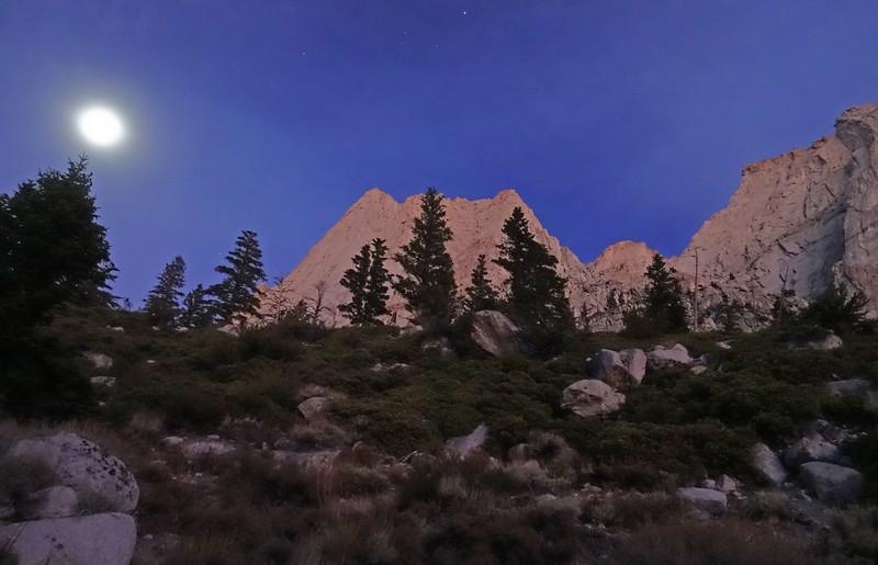 Moonlit approach