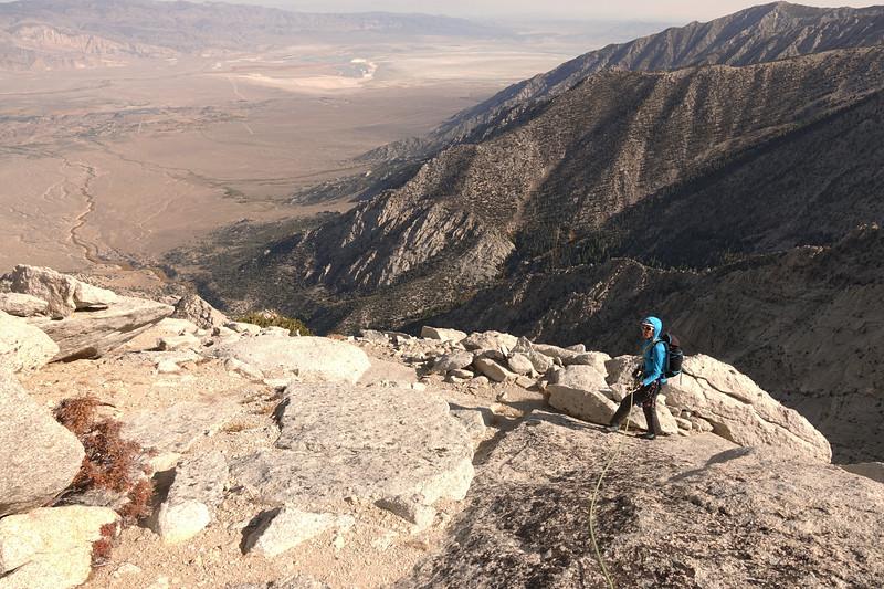 Finishing the climb