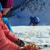 Ski belay