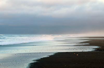 Hokitika Beach at sunset, West Coast, South Island
