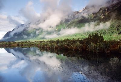 Mirror Lake, Milford Sound Road, South Island