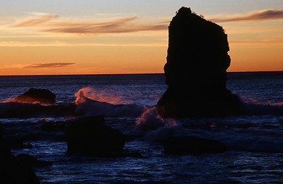 Sunset, Munro Beach, West Coast, South Island
