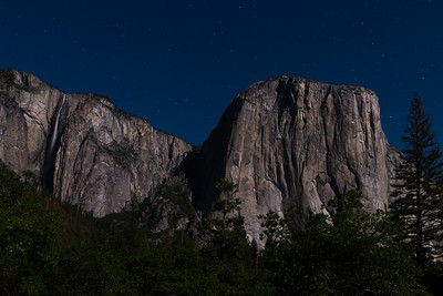 El Capitan & RIbbon Falls by Moonlight